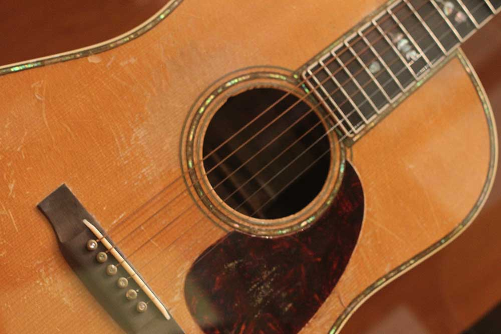 Johnny Cash's Martin guitar. Part of our collection.
