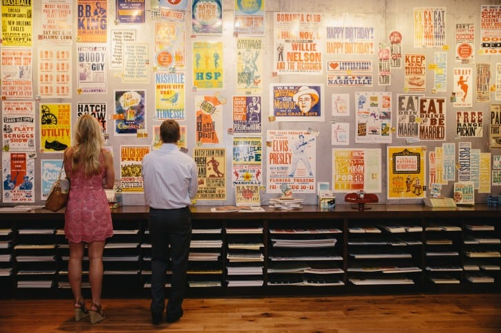 CMHOF-Group-Sales-Hatch-Show-Print-retail-wall_of_posters-photo_by_CK_Photo_-_courtesy_of_the_Country_Music_Hall_of_Fame_and_Museum
