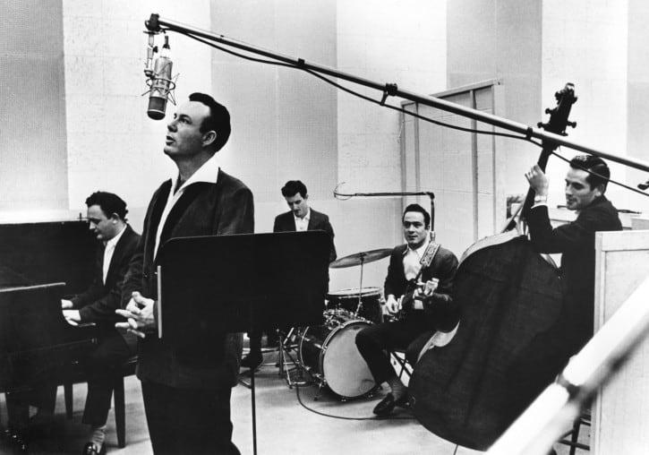 Jim Reeves in studio