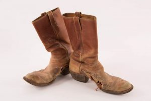Lesson 2: Austin, Texas bootmaker Charlie Dunn made this pair of cowboy boots for Guy Clark.
