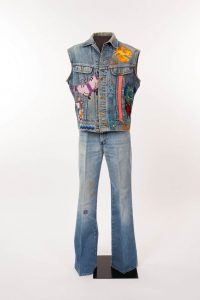 Lesson 2: Jerry Jeff Walker performed in this sleeveless Lee denim jacket embellished with embroidery and patches.