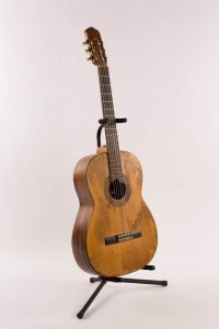 Lesson 2: Shel Silverstein used this hard-traveled and weather-worn classical guitar to write many of his songs. He later gave it to his best friend and frequent collaborator, Bobby Bare.