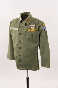 Lesson 2: Army Captain and Airborne Ranger Kris Kristofferson's military jacket. Kristofferson resigned his commission in 1965 and moved to Nashville to become a professional songwriter.