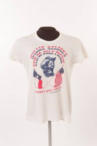 Lesson 2: Souvenir t-shirt from Willie Nelson's Fourth of July Picnic, 1975.