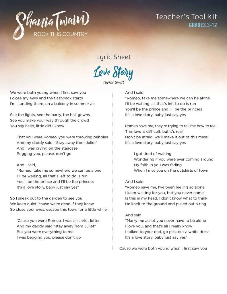 Lyrics_LoveStory