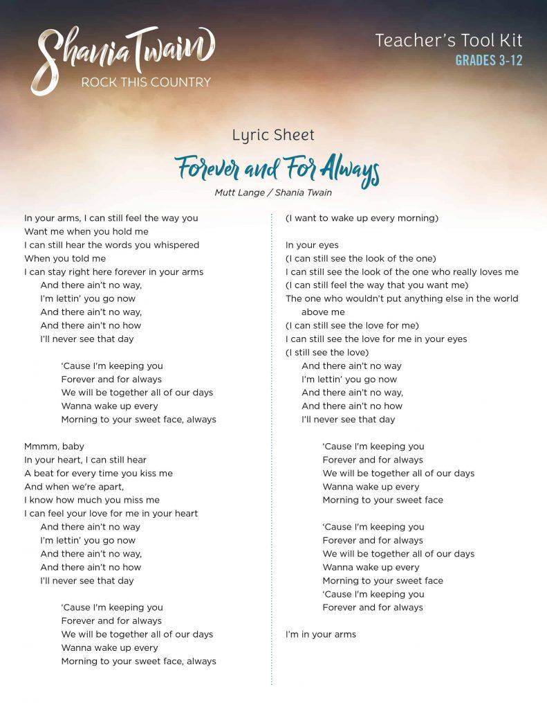 Lyrics_ForeverandForAlways