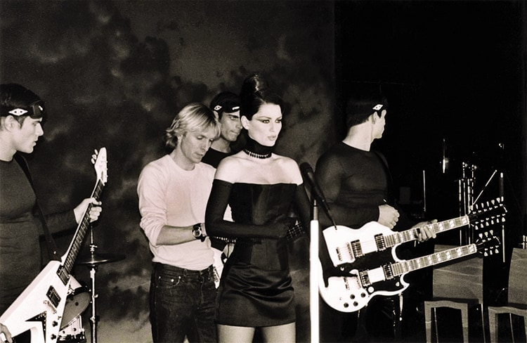 "On the set of Twain's music video ""Man I Feel like a Woman,"" 2003."
