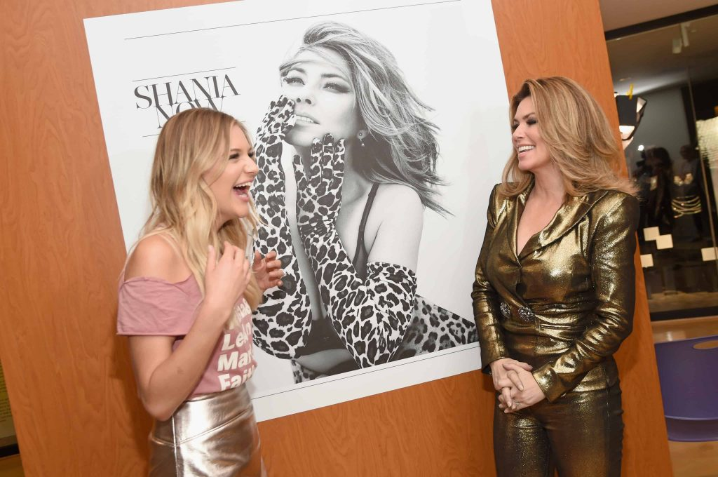 Shania Twain and Kelsea Ballerini at the opening of Shania Twain: Rock This Country.