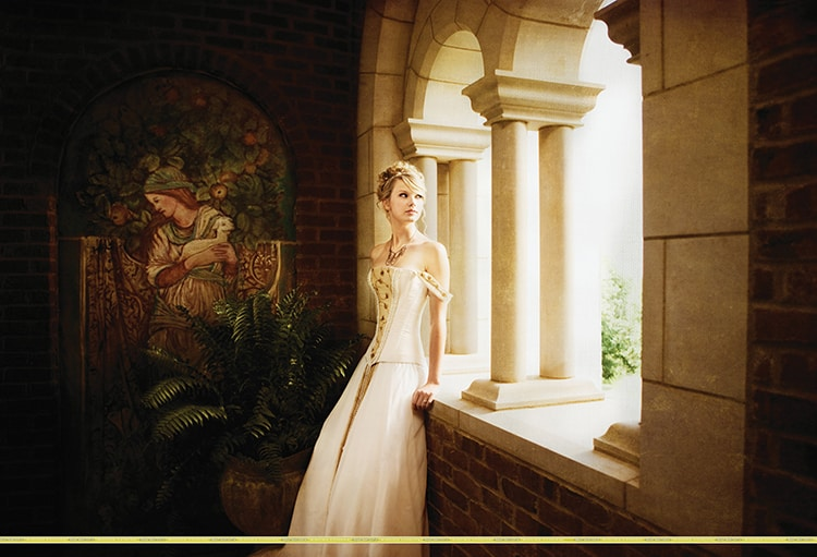 """Still image from Taylor Swift's music video """"Love Story,"""" 2008."""