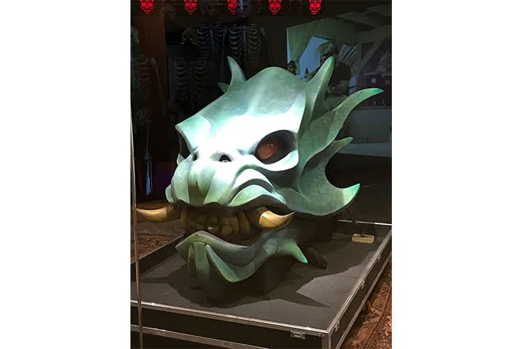 """Beginning in 2015, when the band performed """"Junkyard"""" they paraded a dragon across the concert stage. The dragon's head was created by Jake Corrick and Benjamin Bayouth, with painting help from Kristian Baena. The body consisted of five sculpted figures perched on backpacks created by Zac Brown Customs and carried by band members."""
