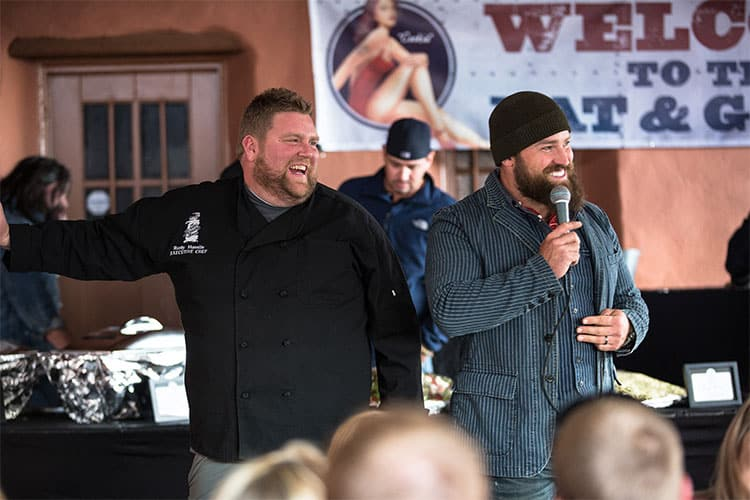Chef Rusty and Zac Brown at an Eat & Greet; June 10, 2013; Red Rocks, Colorado.