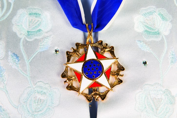 Presidential Medal of Freedom presented to Lynn by President Barack Obama in 2013.