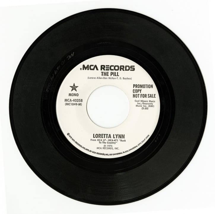 """45 singles for """"The Pill"""" 1975."""