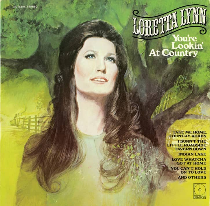 LP cover for You're Lookin' at Country (1971).