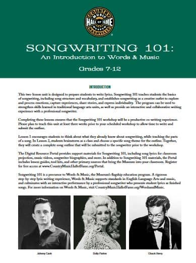 Songwriting 101 7-12
