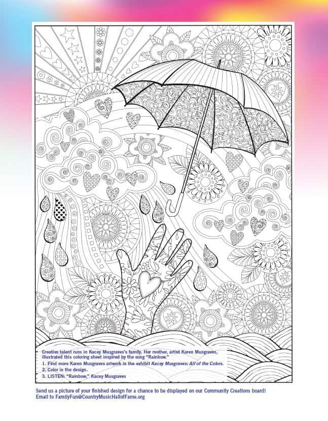 Kacey Musgraves coloring sheet thumbnail