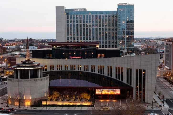 CMHOF-Group-Sales-3-Museum-exterior-dusk-photo-by-Dove-Wedding-Photography