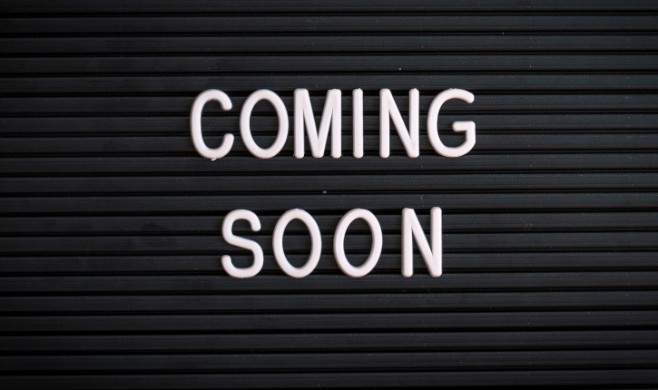 Coming soon letter board
