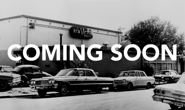 Vintage photo of Studio B with coming soon written on top