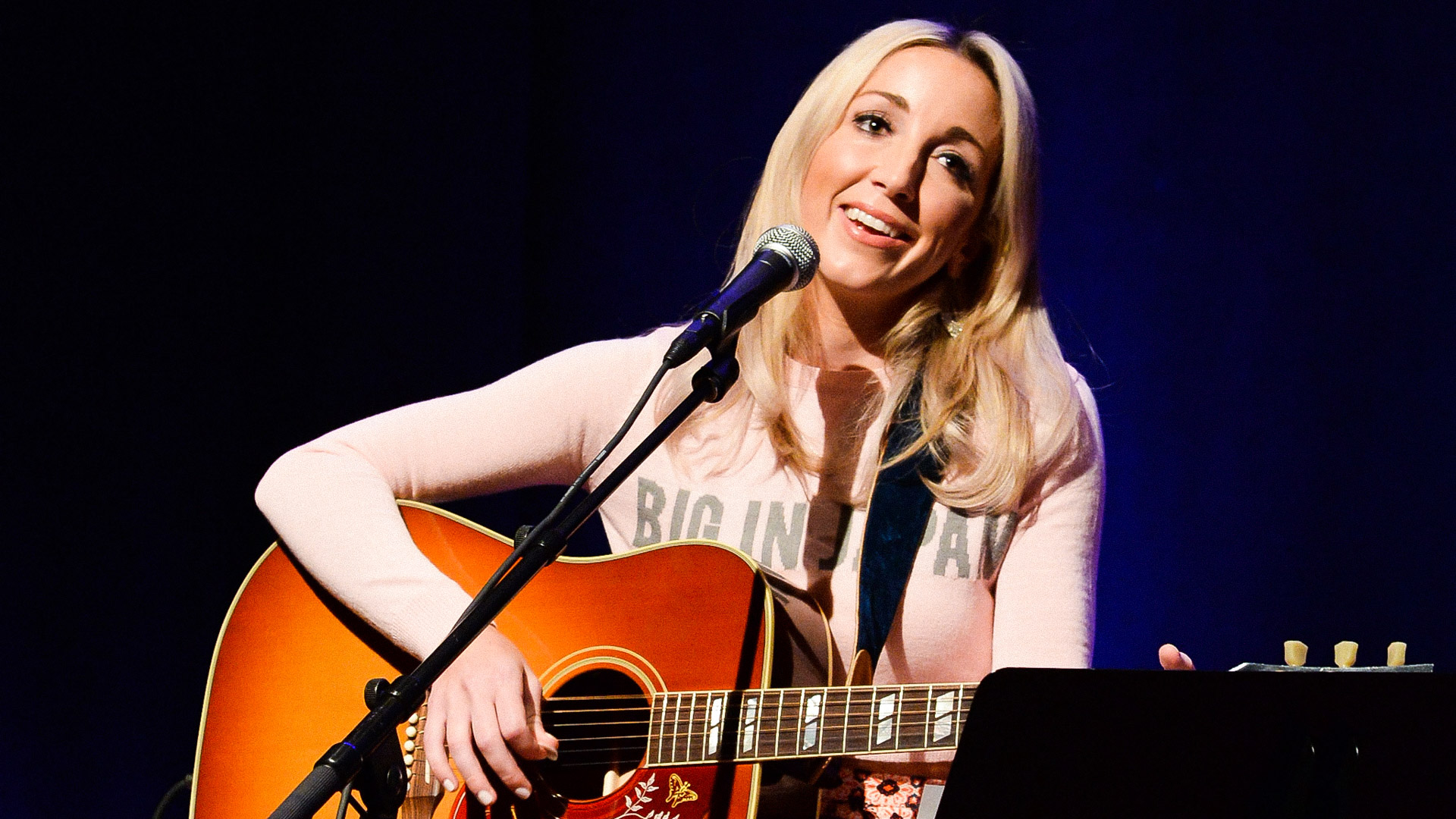 NASHVILLE, TN - MAY 17:  Ashley Monroe performs during the Country Music Hall Of Fame & Museum Presents Songwriter Session: Ashley Monroe at Country Music Hall of Fame and Museum on May 17, 2014 in Nashville, Tennessee.  (Photo by Rick Diamond/Getty Images for Country Music Hall Of Fame & Museum)