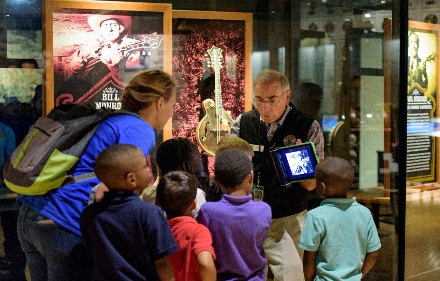 Volunteer Dick Kottler gives Museum tour